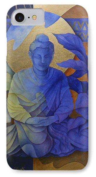 Contemplation - Buddha Meditates Phone Case by Susanne Clark