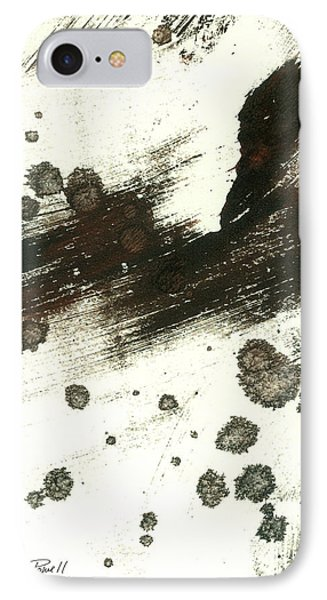 Contemplation In Black And White Abstract Art Phone Case by Ann Powell