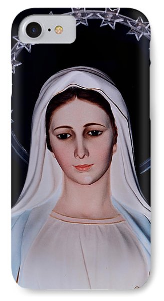 Contemplative Our Lady Queen Of Peace  IPhone Case by Susan Duda
