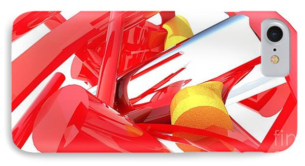 Contemporary Vector Art 1 IPhone Case by Corporate Art Task Force