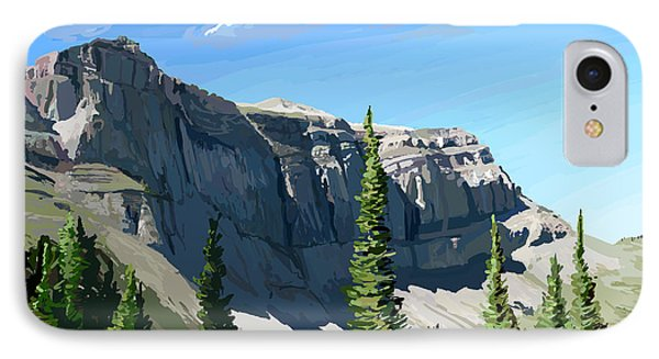 Continental Divide Scapegoat Mountain IPhone Case