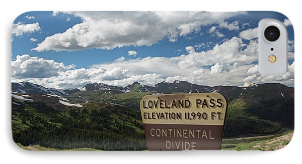 Continental Divide Sign IPhone Case by Jim West
