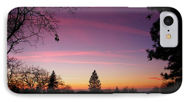 Contrail Streaks IPhone Case by Tom Mansfield