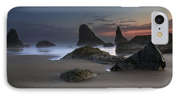 Contrasting Partners..... Bandon Oregon IPhone Case by Tim Bryan