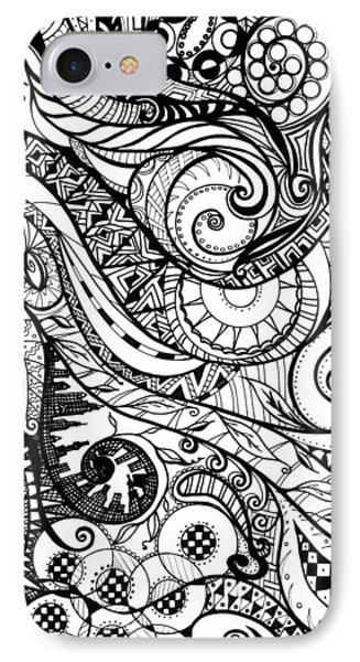 Controlled Chaos Phone Case by Shawna Rowe