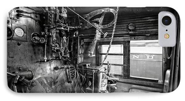 Controls Of Steam Locomotive No. 611 C. 1950 Phone Case by Daniel Hagerman