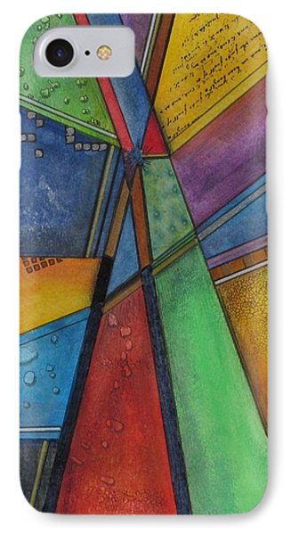 IPhone Case featuring the painting Convergence by Nicole Nadeau
