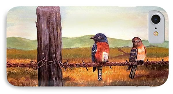 Conversation With A Fencepost IPhone Case