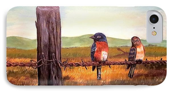 Conversation With A Fencepost IPhone Case by Kimberlee Baxter