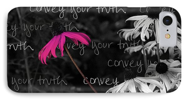IPhone Case featuring the photograph Convey Your Truth by Lauren Radke