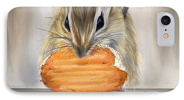 Cookie Time- Squirrel Eating A Cookie IPhone Case by Lourry Legarde