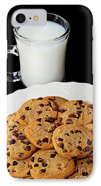 Cookies - Milk - Chocolate Chip - Baker Phone Case by Andee Design