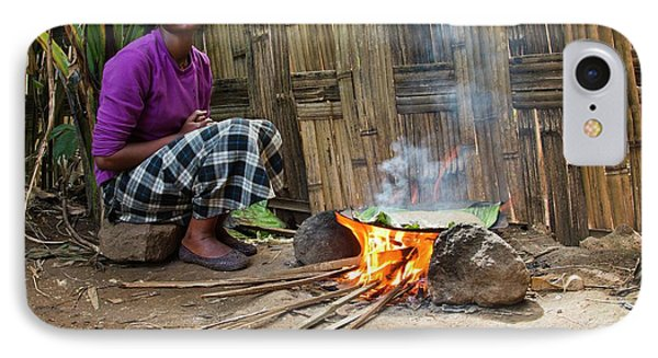 Cooking Bread From The Fruitless Banana IPhone Case by Photostock-israel