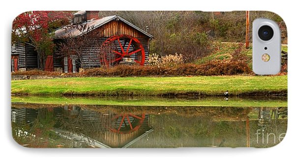 Cook's Mill Forge Building Panorama IPhone Case by Adam Jewell