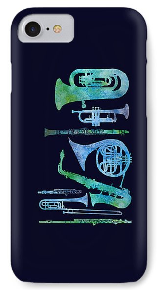 Cool Blue Band IPhone Case by Jenny Armitage