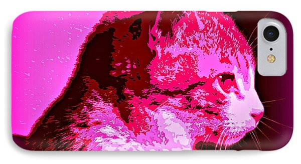 IPhone Case featuring the photograph Cool Cat by Clare Bevan