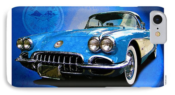 Cool Corvette IPhone Case by Kenneth De Tore