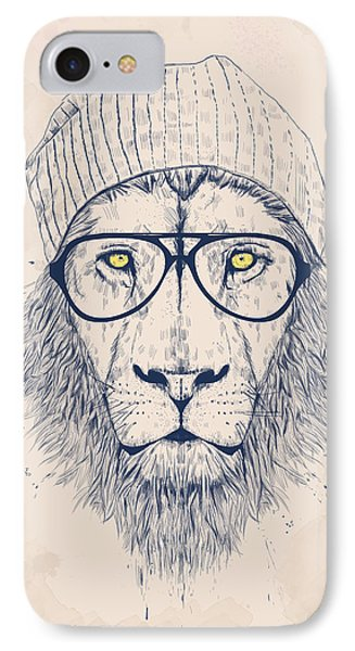 Lion iPhone 7 Case - Cool Lion by Balazs Solti