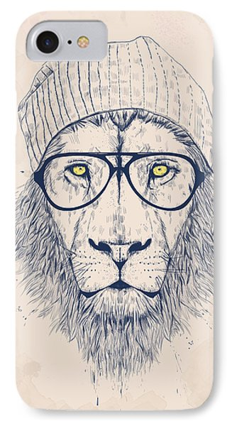 Cool Lion IPhone Case by Balazs Solti