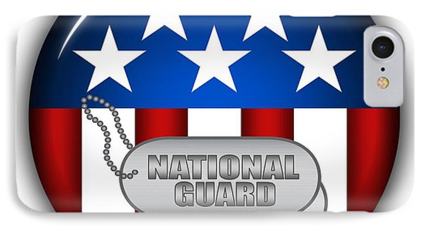Cool National Guard Insignia Phone Case by Pamela Johnson