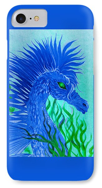 IPhone Case featuring the painting Cool Sea Horse by Adria Trail