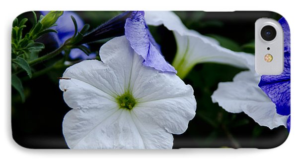 IPhone Case featuring the photograph Cool Summer Petunias by Wilma  Birdwell