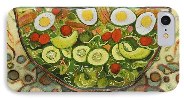Cool Summer Salad IPhone Case by Jen Norton