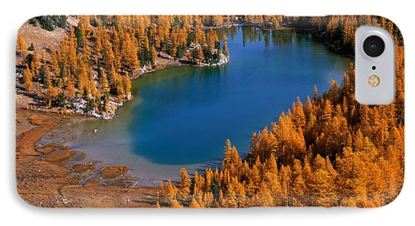 Cooney Lake Surrounded By Larch Trees IPhone Case