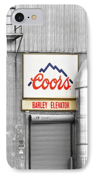 Coors Barley Elevator Bw Color Phone Case by James BO  Insogna
