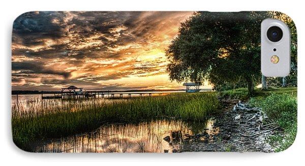 Coosaw Plantation Sunset IPhone Case by Scott Hansen