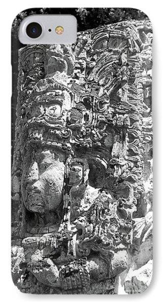 Copan Stela Honduras IPhone Case by John  Mitchell