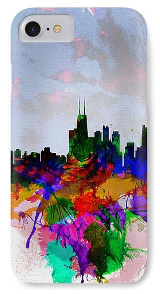 Copenhagen Watercolor Skyline IPhone Case by Naxart Studio