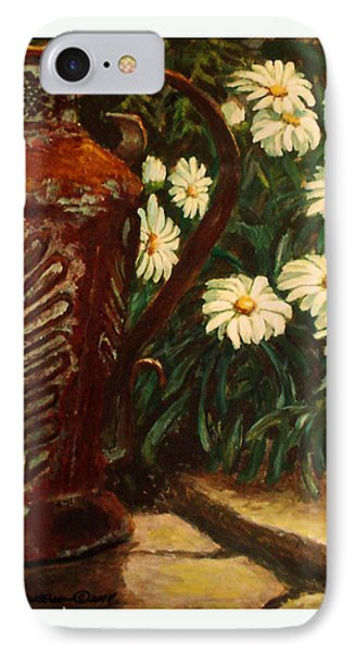 Copper And Daisies IPhone Case