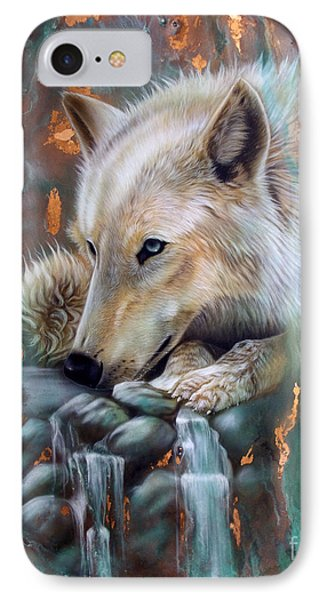 Copper Arctic Wolf IPhone Case by Sandi Baker