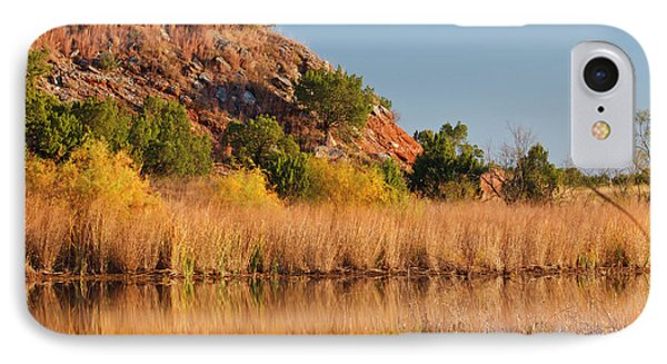 Copper Breaks State Park In Autumn IPhone Case by Larry Ditto