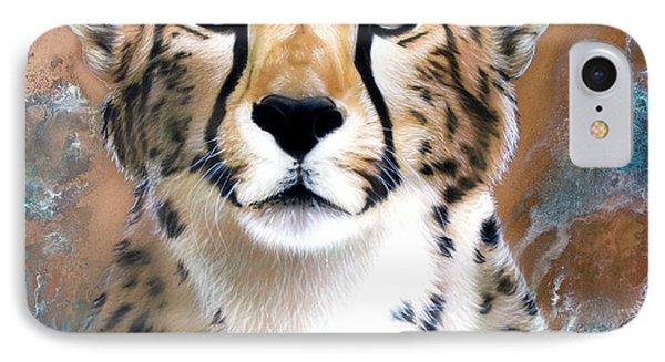 Copper Flash - Cheetah IPhone Case by Sandi Baker