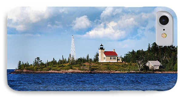 Copper Harbor Lighthouse Phone Case by Christina Rollo