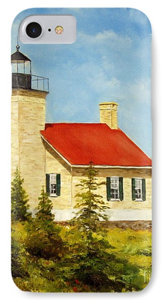 Copper Harbor Lighthouse IPhone Case by Lee Piper