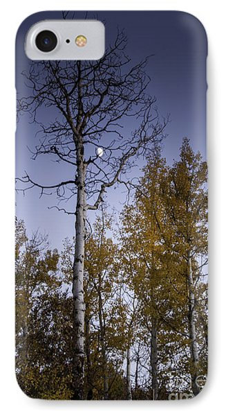 IPhone Case featuring the photograph Copper Ridge Moon At Sunset by Daniel Hebard