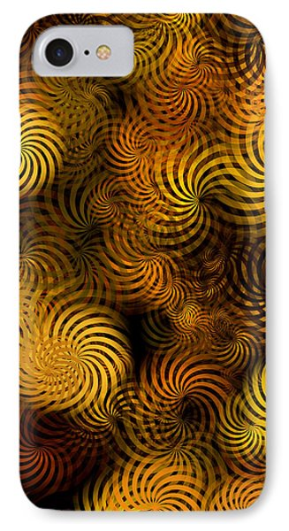 Copper Spirals Abstract Square IPhone Case