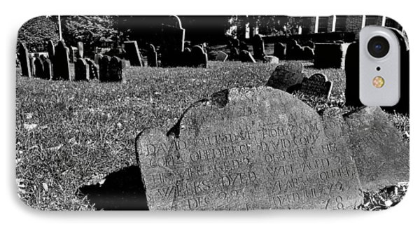 Copp's Hill Burying Ground IPhone Case by Benjamin Yeager