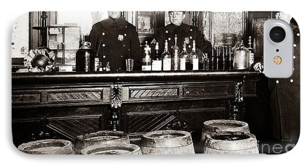 Cops At The Bar IPhone Case by Jon Neidert