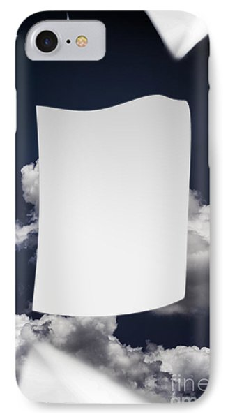 Copyspace Paper Document Flying In The Wind IPhone Case
