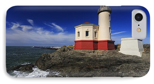 Coquille River Lighthouse 3 IPhone Case by Mark Kiver