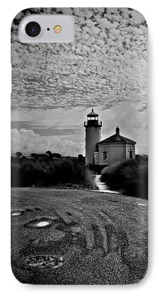 Coquille River Lighthouse IPhone Case by Melanie Lankford Photography