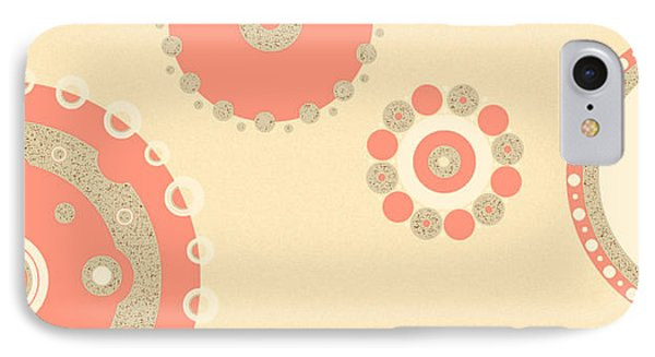 IPhone Case featuring the digital art Coral And Cork by Kjirsten Collier