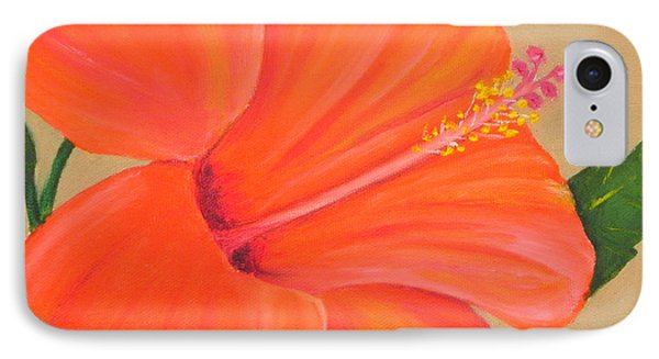 Coral Delight - Hibiscus Flower IPhone Case by Shelia Kempf