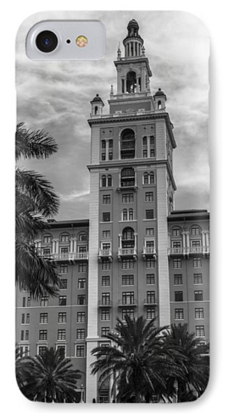 Coral Gables Biltmore Hotel In Black And White IPhone Case by Ed Gleichman