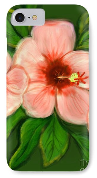 Coral Hibiscus  Phone Case by Christine Fournier