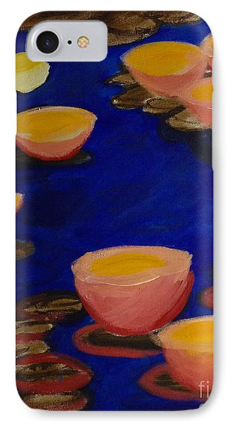 IPhone Case featuring the painting Coral Lily Pond by Anita Lewis
